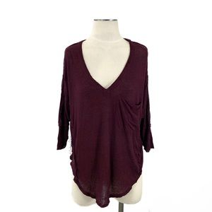Free People-We the Free Golden Gate Tee in Wine